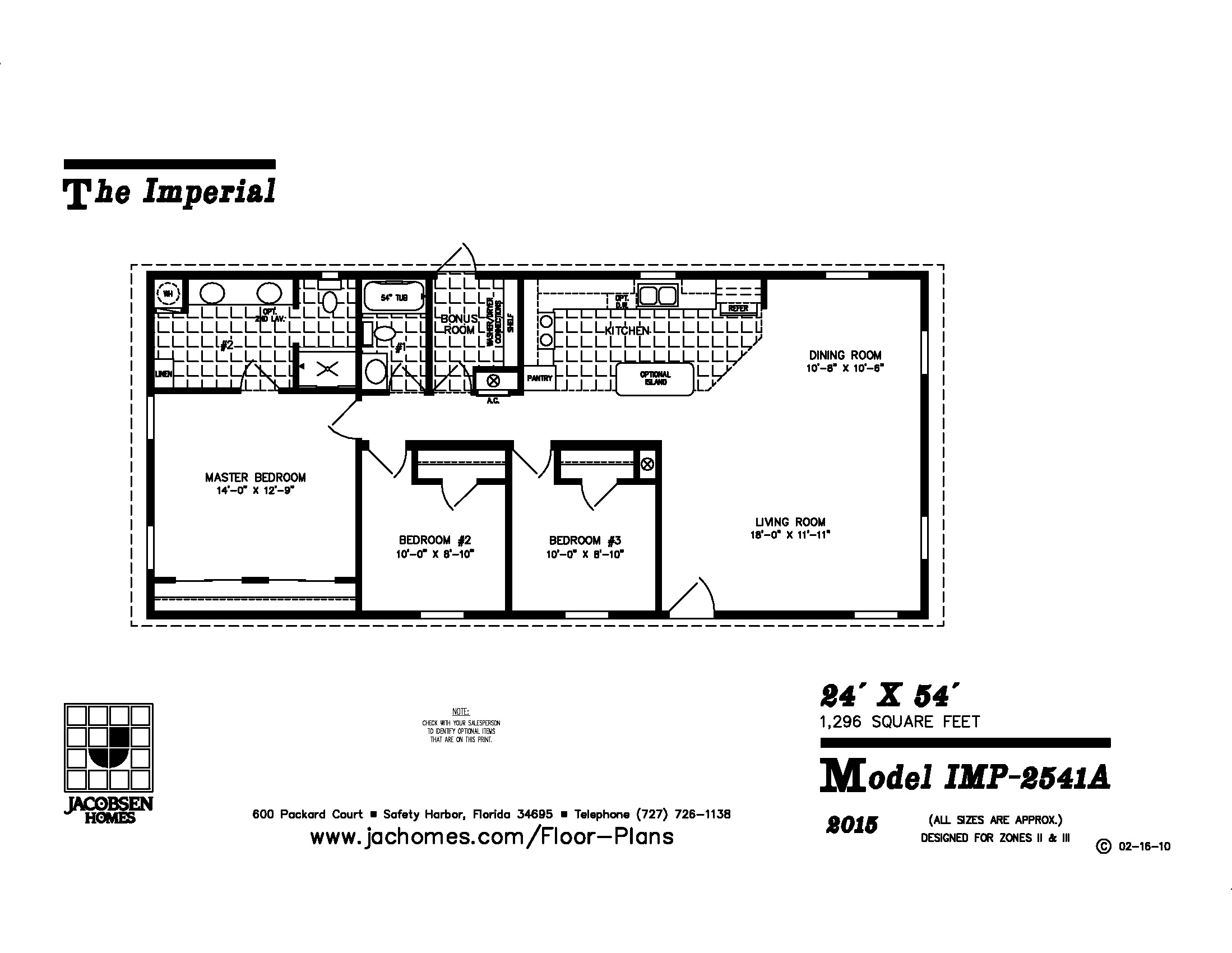 Jacobsen Manufactured Homes Floor Plans Imp 2541a Mobile Home Floor Plan Gainey Custom Homes