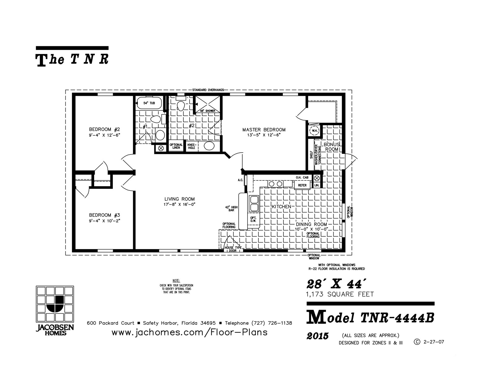 Tnr 4444b Mobile Home Floor Plan Gainey Custom Homes