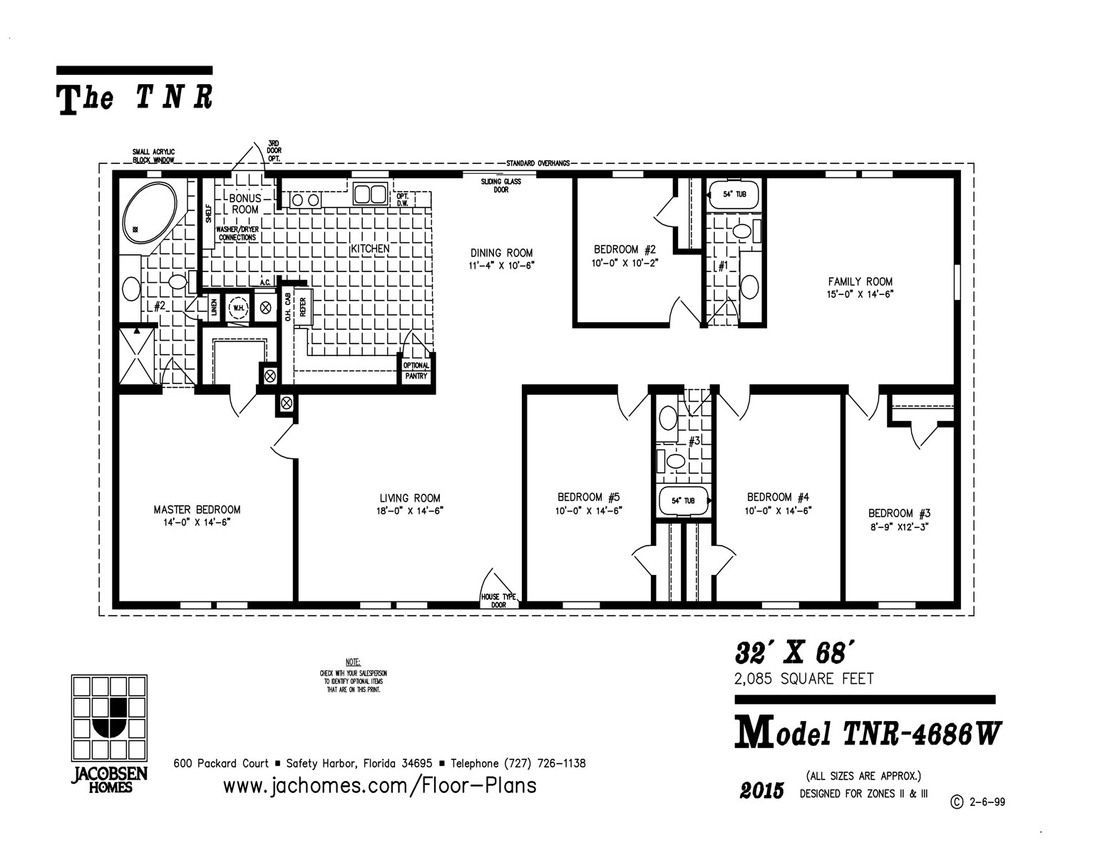 TNR4686W Mobile Home Floor Plan Gainey Custom Homes – 5 Bedroom 3 Bath Mobile Home Floor Plans