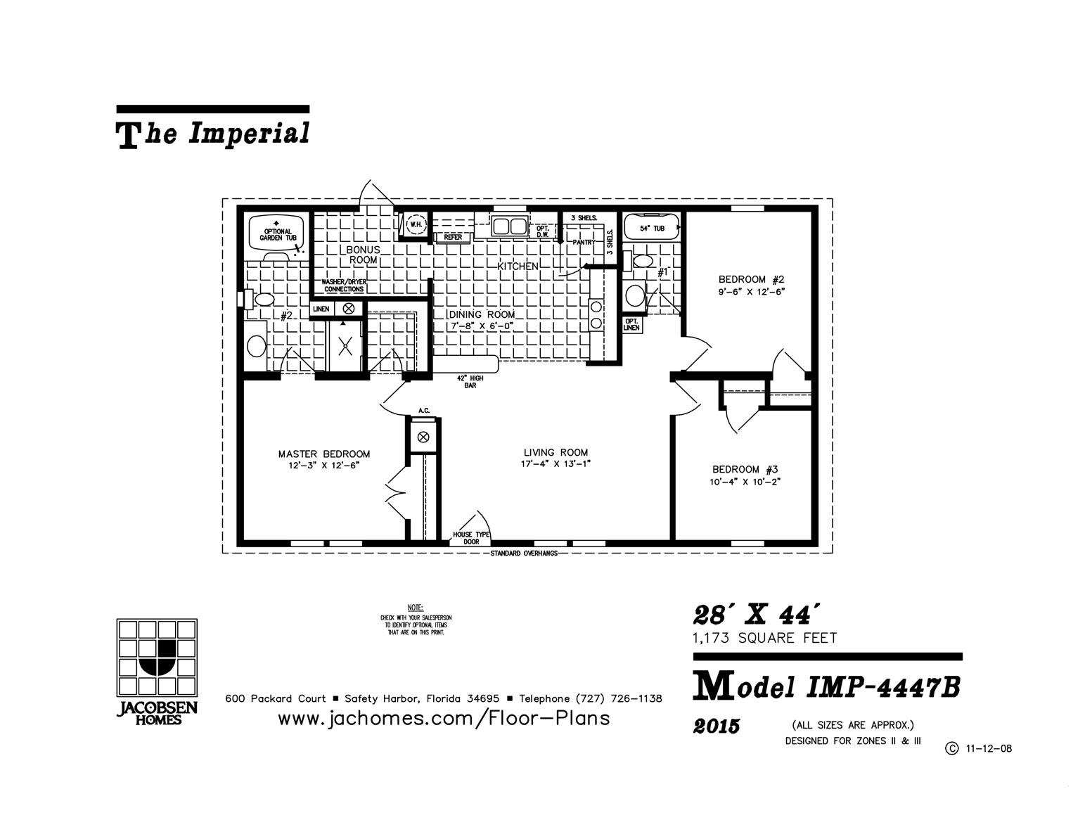 IMP-4447B Mobile Home Floor Plan - Gainey Custom Homes